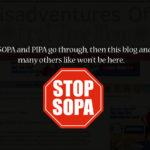 GONE DARK! STOP SOPA & PIPA!