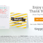 Coupon – 10 Free 'Thank You' Cards @ TinyPrints (EXPIRED)