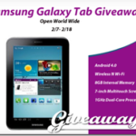 Samsung Galaxy Tab Giveaway