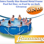 Intex Family Size Round Metal Frame Pool Giveaway [ENDED]