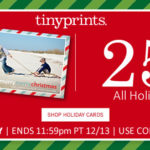 Coupon — 25% Off All Holiday Cards Plus Free Shipping @ TinyPrints