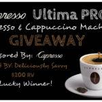 Blogger Opp ~ Capresso Ultima PRO Espresso & Cappuccino Machine Giveaway